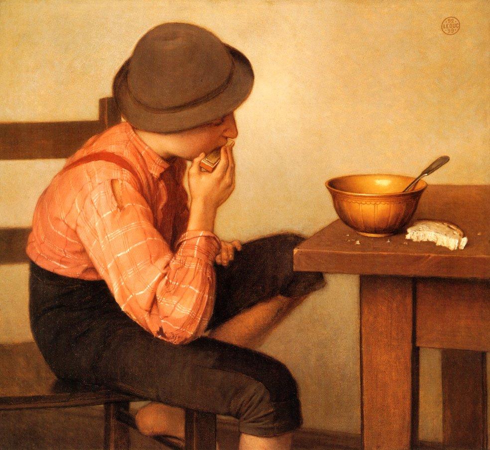 Ozias Leduc. The boy with the bread