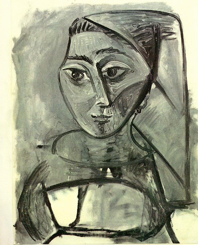 Пабло Пикассо. Портрет женщины. Жаклин Рок