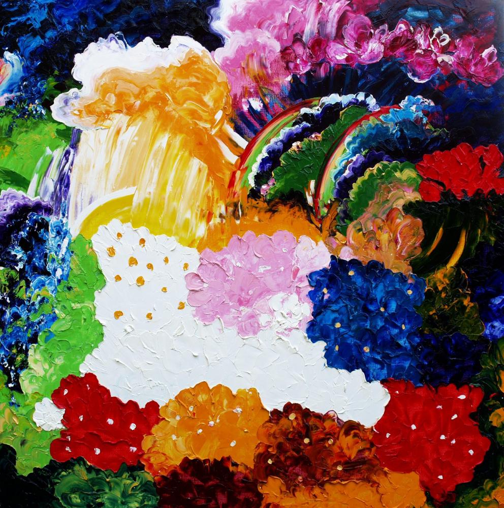 Alexander Ocher Kandinsky-DAE. The rain had stopped. Glade with flowers.