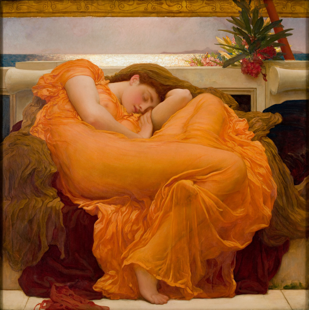 Frederic Leighton. Flaming june
