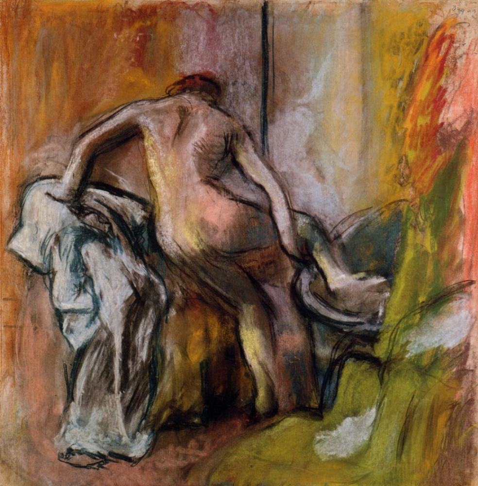 Edgar Degas. Woman emerging from the bathroom