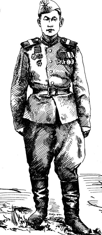 Иван Яковлевич Кузнецов. Разведчик Саша Сагалаков. Ветеран 1941-45 гг.