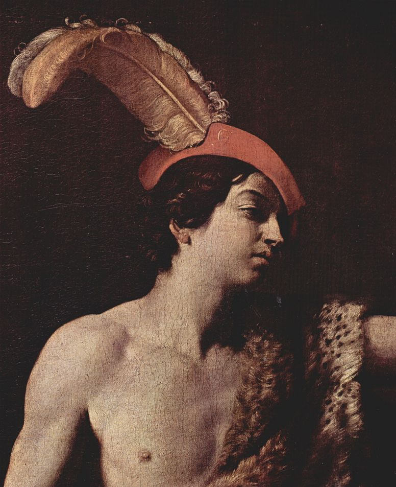 Guido Reni. David with the head of Goliath, fragment