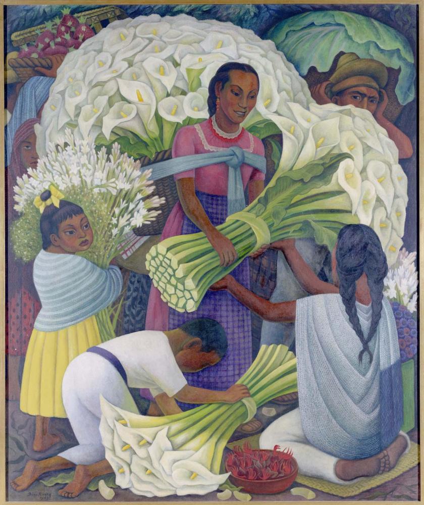Diego Maria Rivera. Flower Saleswoman