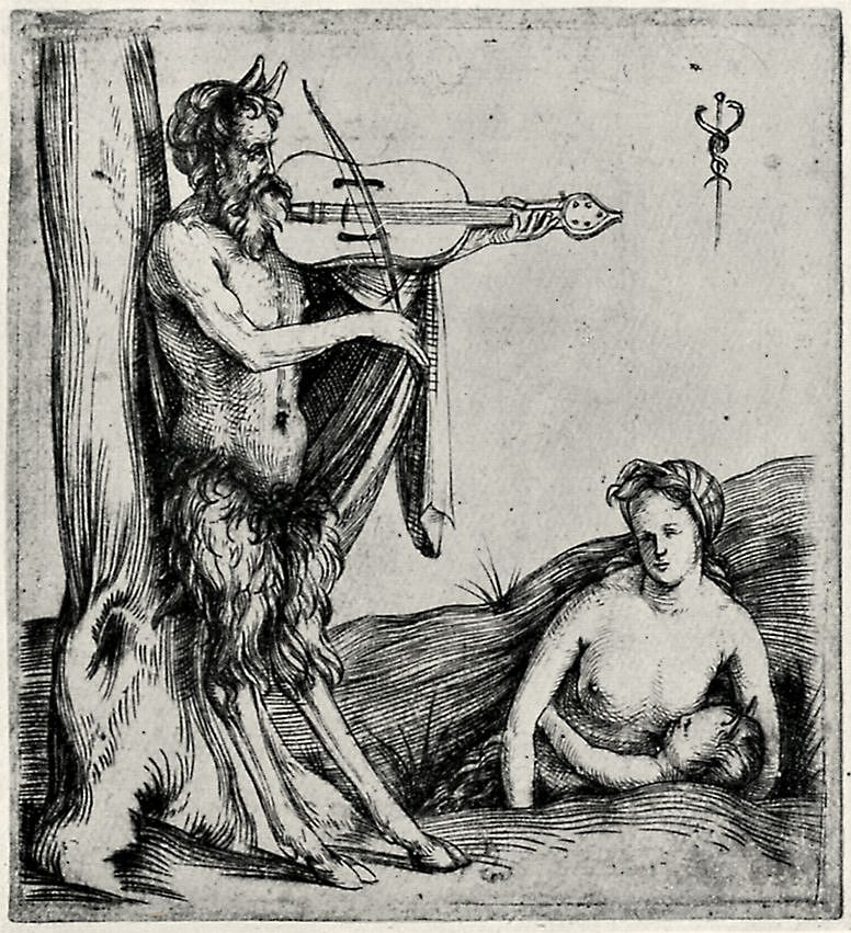 Jacopo de Barbary. Satyr, who plays the violin
