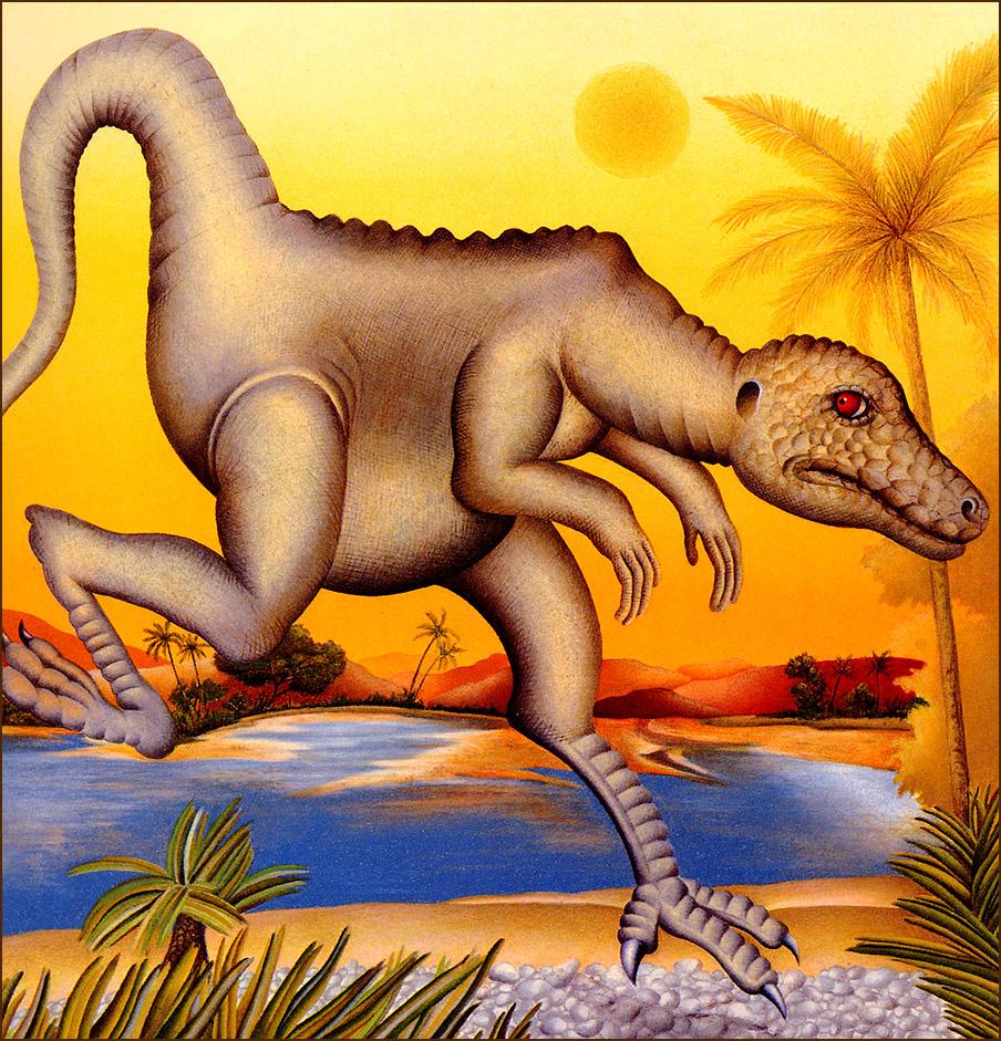 Этьен Делессер. Бегущий динозавр