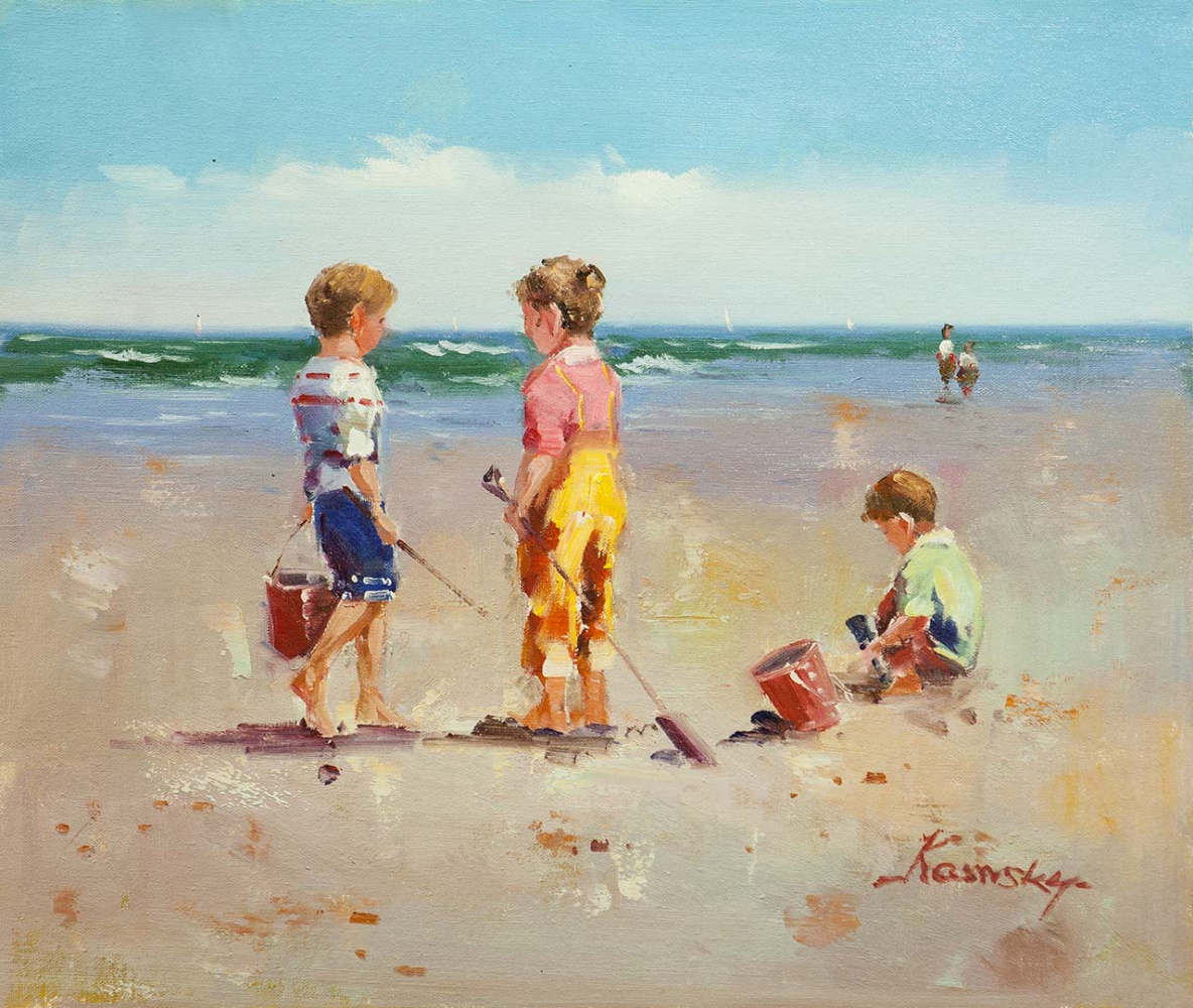 Savely Kamsky. Children and the sea. N4