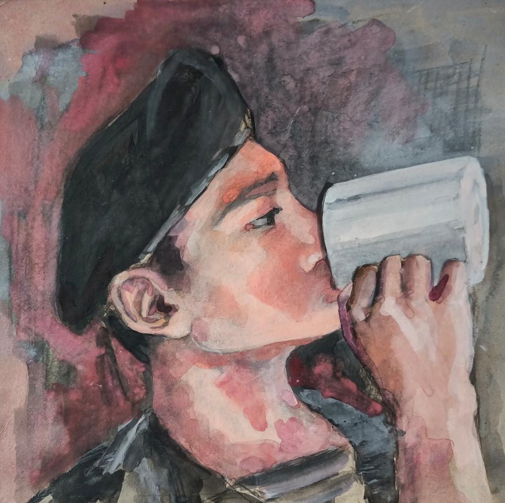 Edward Rudolfovich Votyakov. После кросса ( портрет сына )