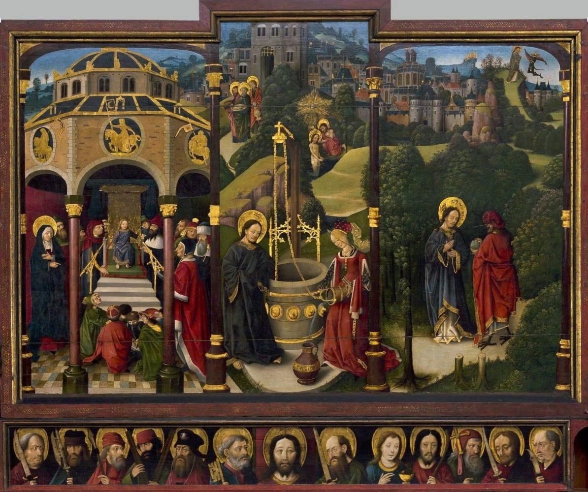 Unknown artist. Jerusalem triptych. 1497-1500 central panel