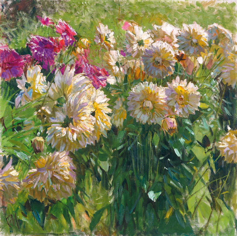 Carl Moll. Dahlias