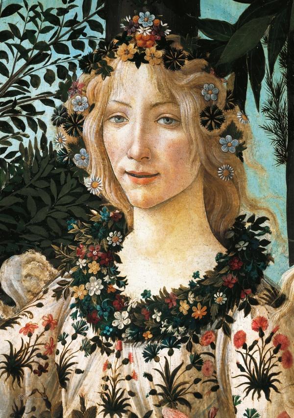 Sandro Botticelli. Spring (Primavera). Detail: Flora