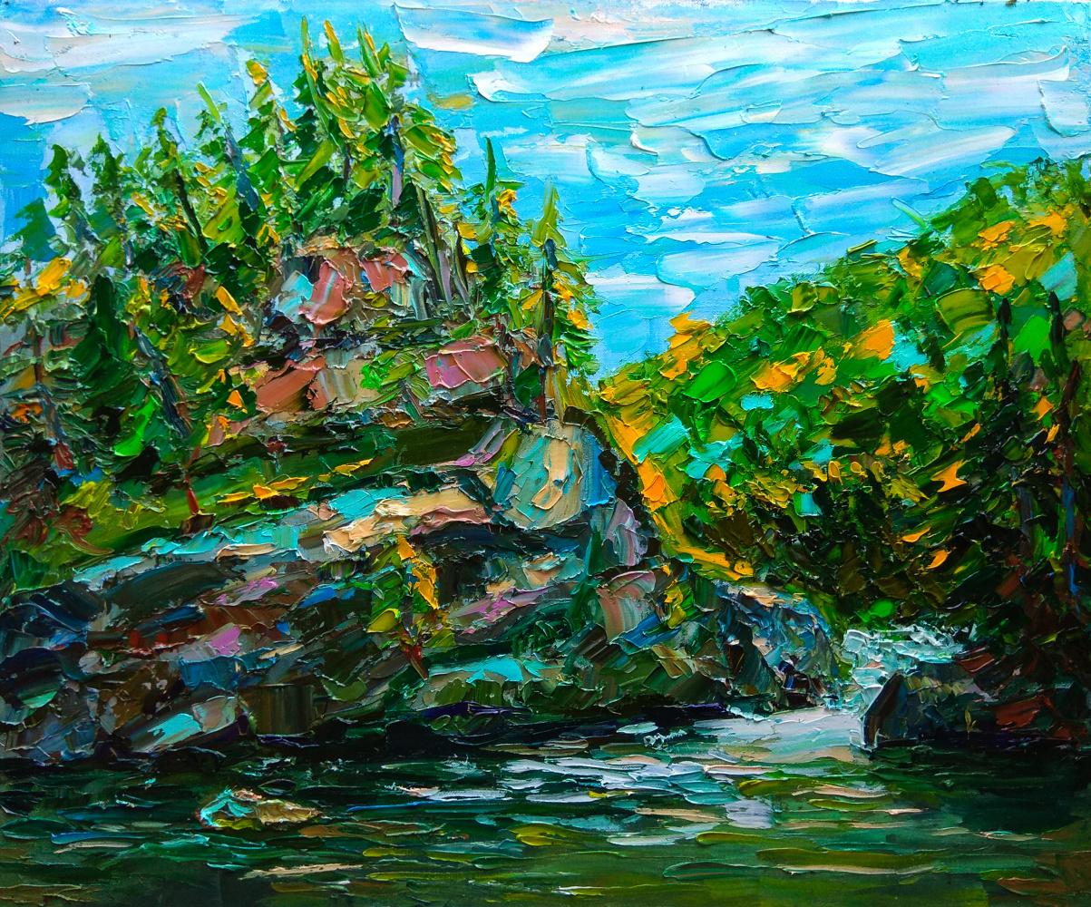 "Artem Konstantinovich Shubin. ""In the shade of the morning canyon"""
