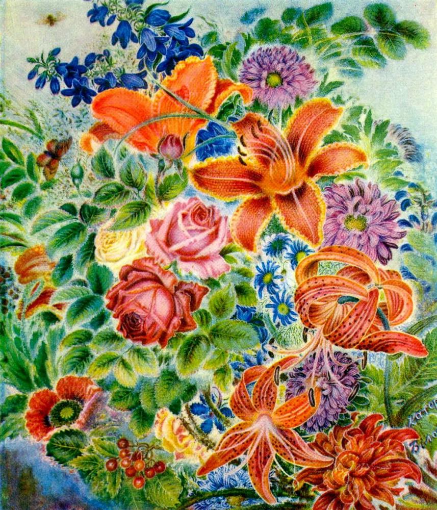 Kateryna Vasylivna Bilokur. Garden flowers