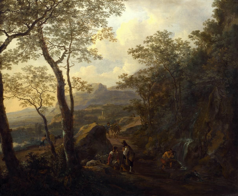 Ян ван Эйк. Итальянский пейзаж с пастухом