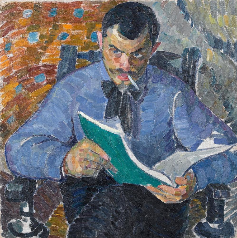 Alexander Konstantinovich Bogomazov. Portrait of the artist Burdanov