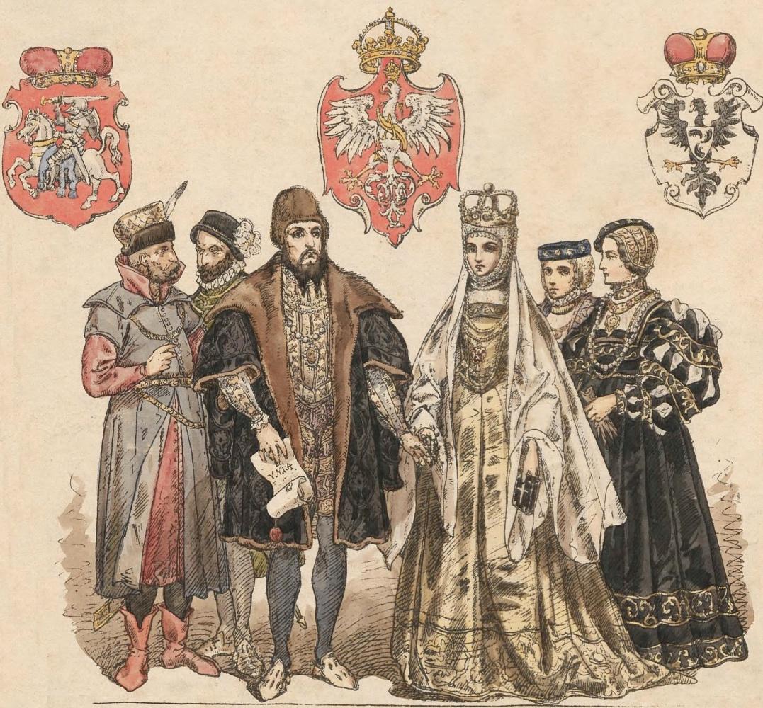 Ян Матейко. Зигмунт Август и Барбара Радзивилова с придворными