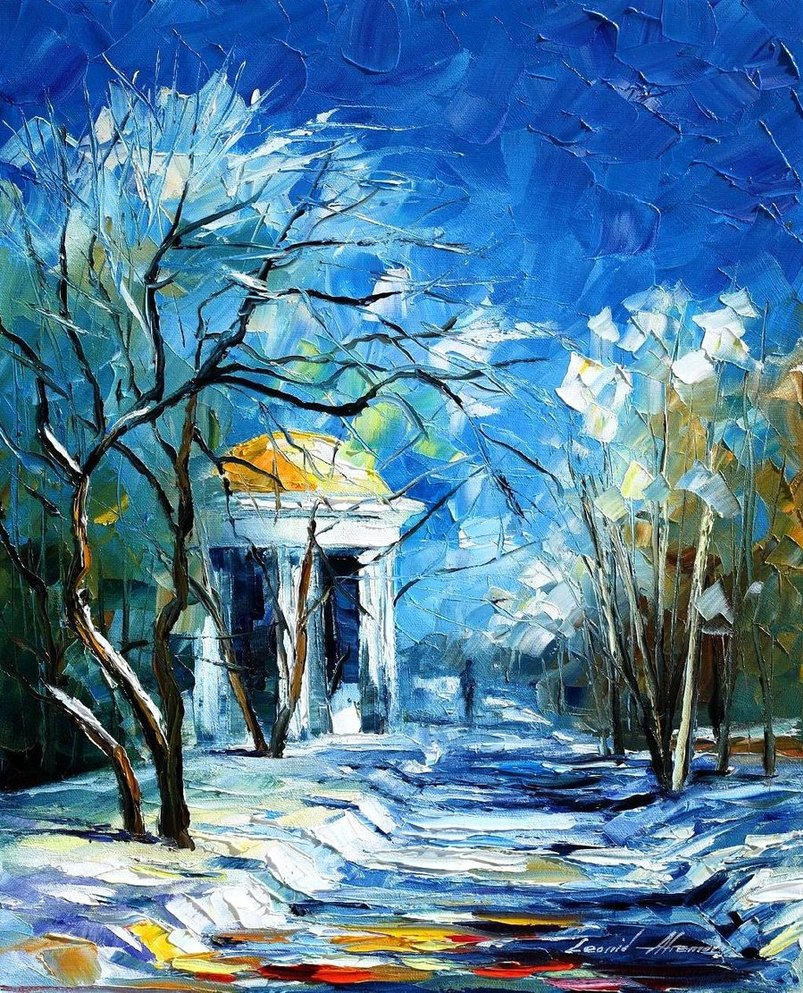 Leonid Afremov. Winter
