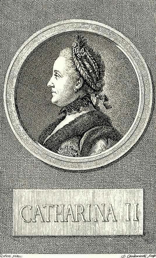 Даниэль  Николай Ходовецкий. Портрет императрицы Екатерины II