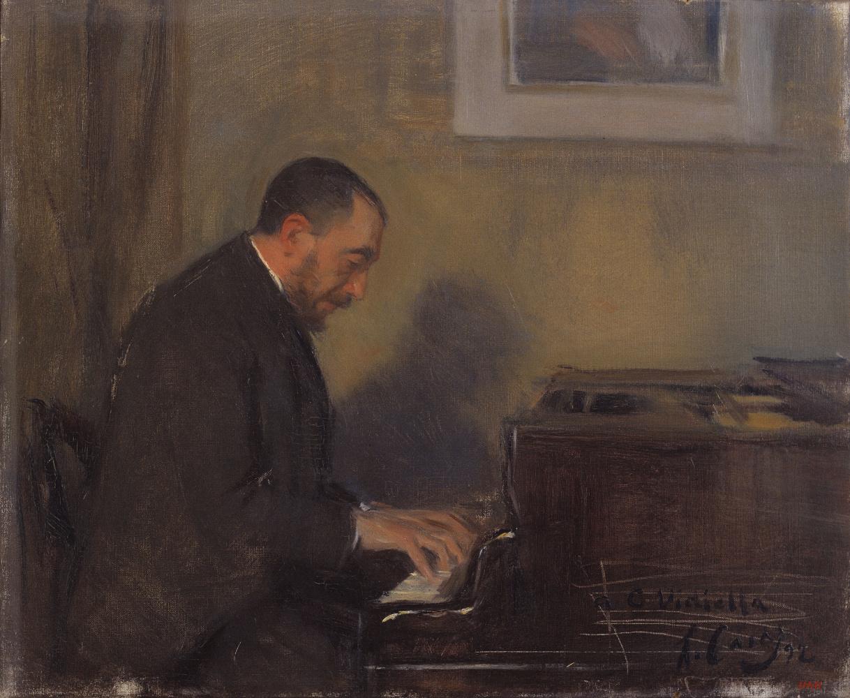 Рамон Касас Карбо. Портрет пианиста Карлоса Г. Видиэлла