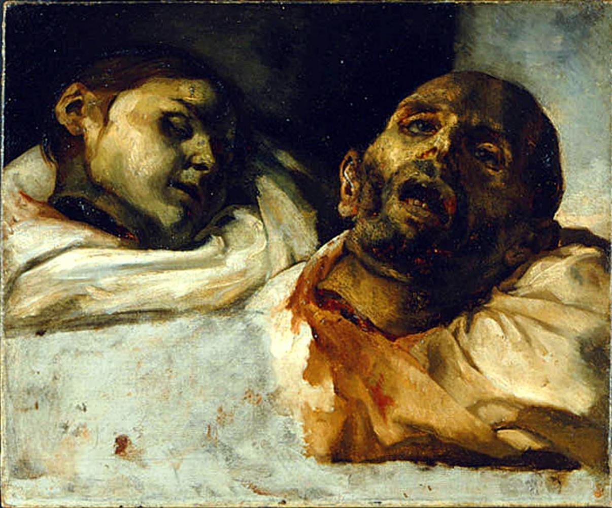 Théodore Géricault. Guillotine chopped off heads