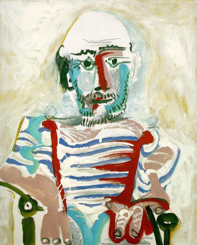 Пабло Пикассо. Сидящий мужчина (автопортрет Пикассо)