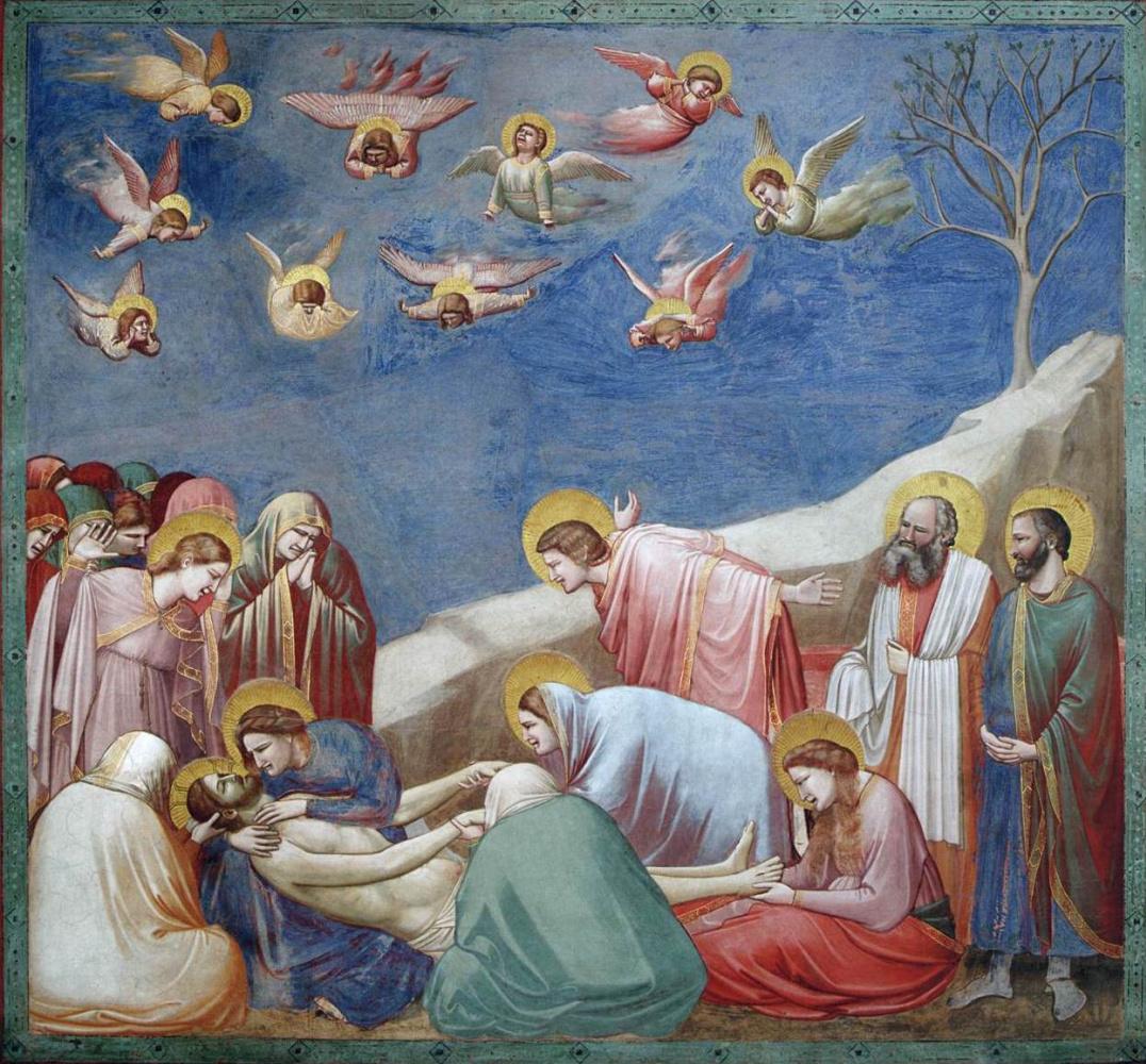 Giotto di Bondone. Lamentation of Christ. Scenes from the life of Christ