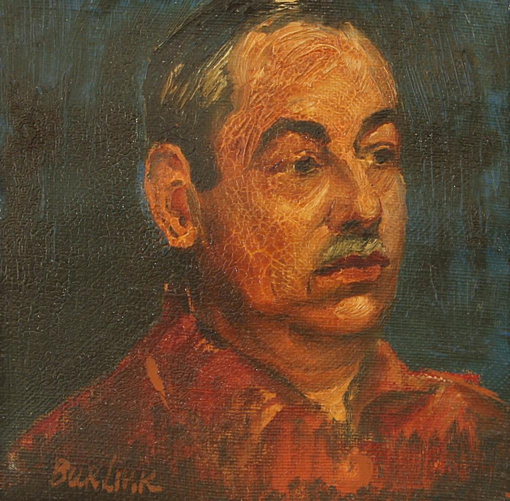 Давид Давидович Бурлюк. Портрет мужчины с усами
