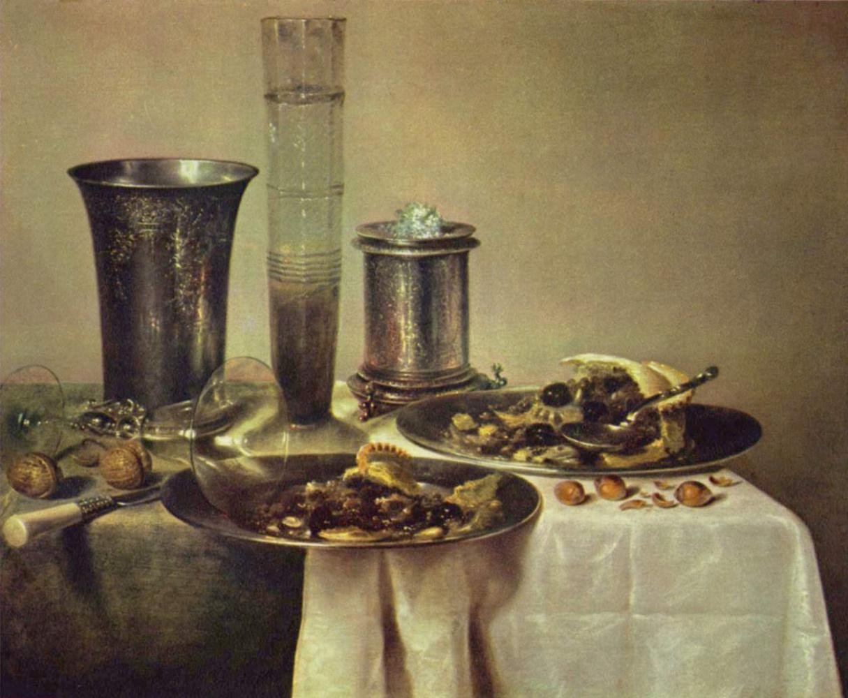 Willem Claesz Heda. Table with dessert