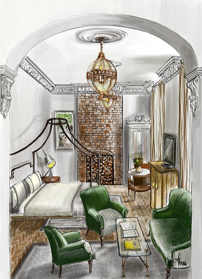 Anna ANDREI. Interior illustration