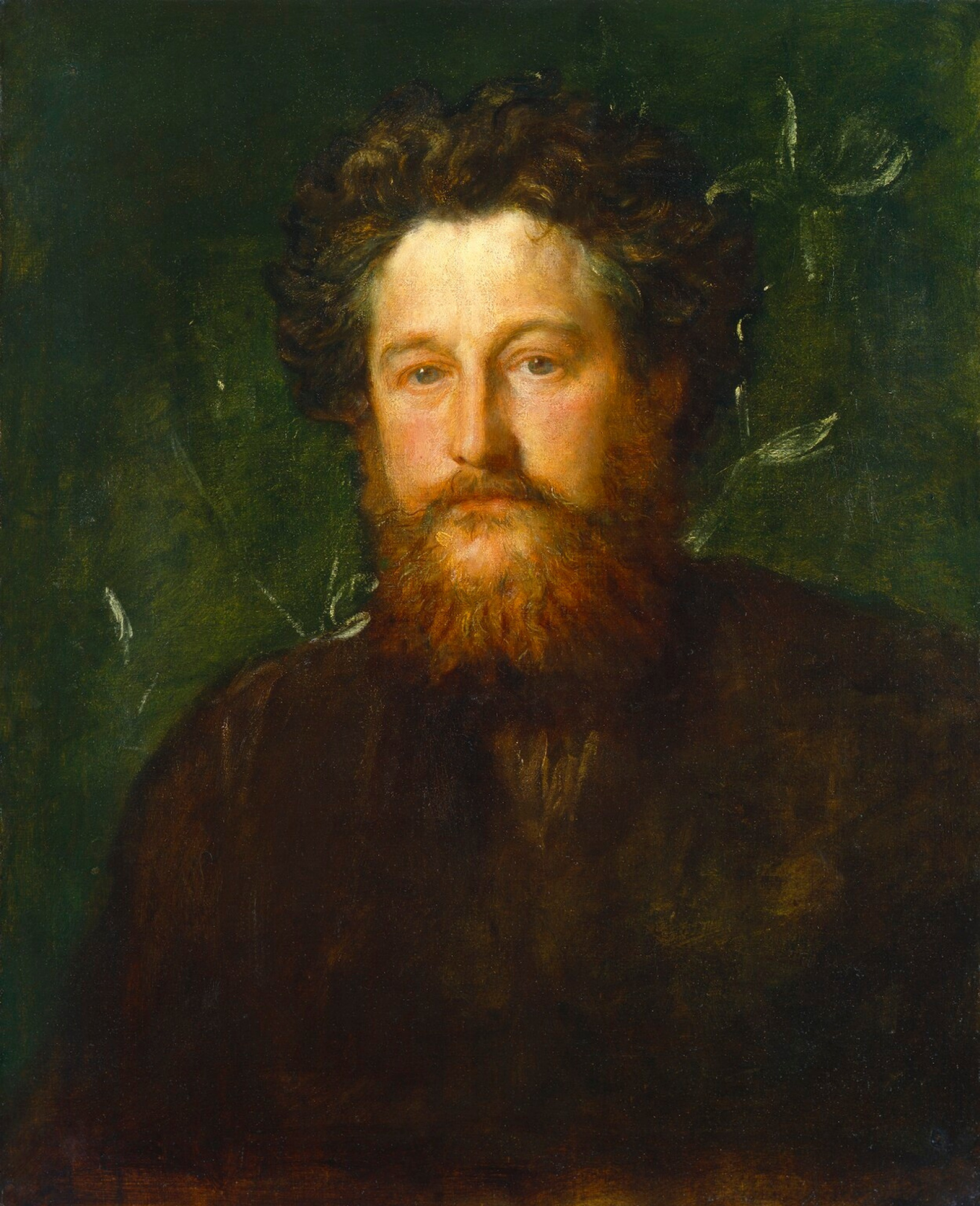 George Frederick Watts.  Poète William Morris