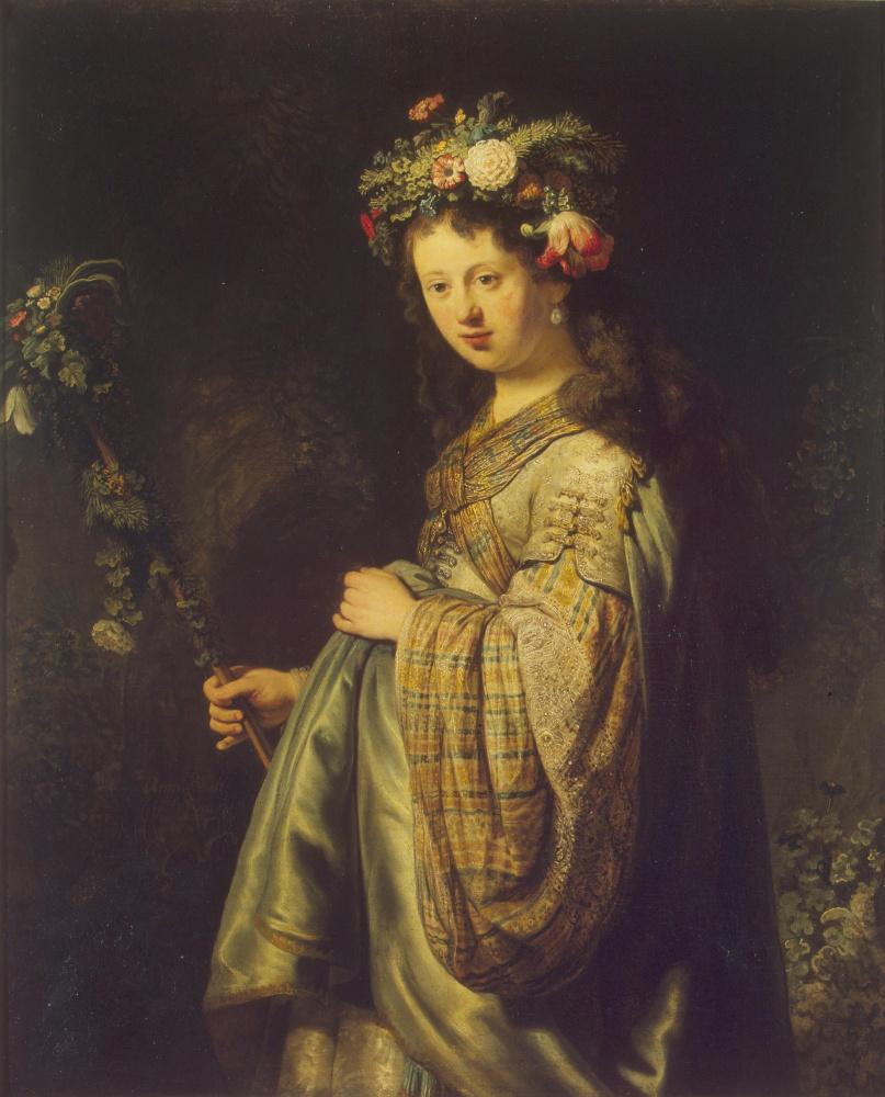 Рембрандт Харменс ван Рейн. Флора (Портрет Саскии)