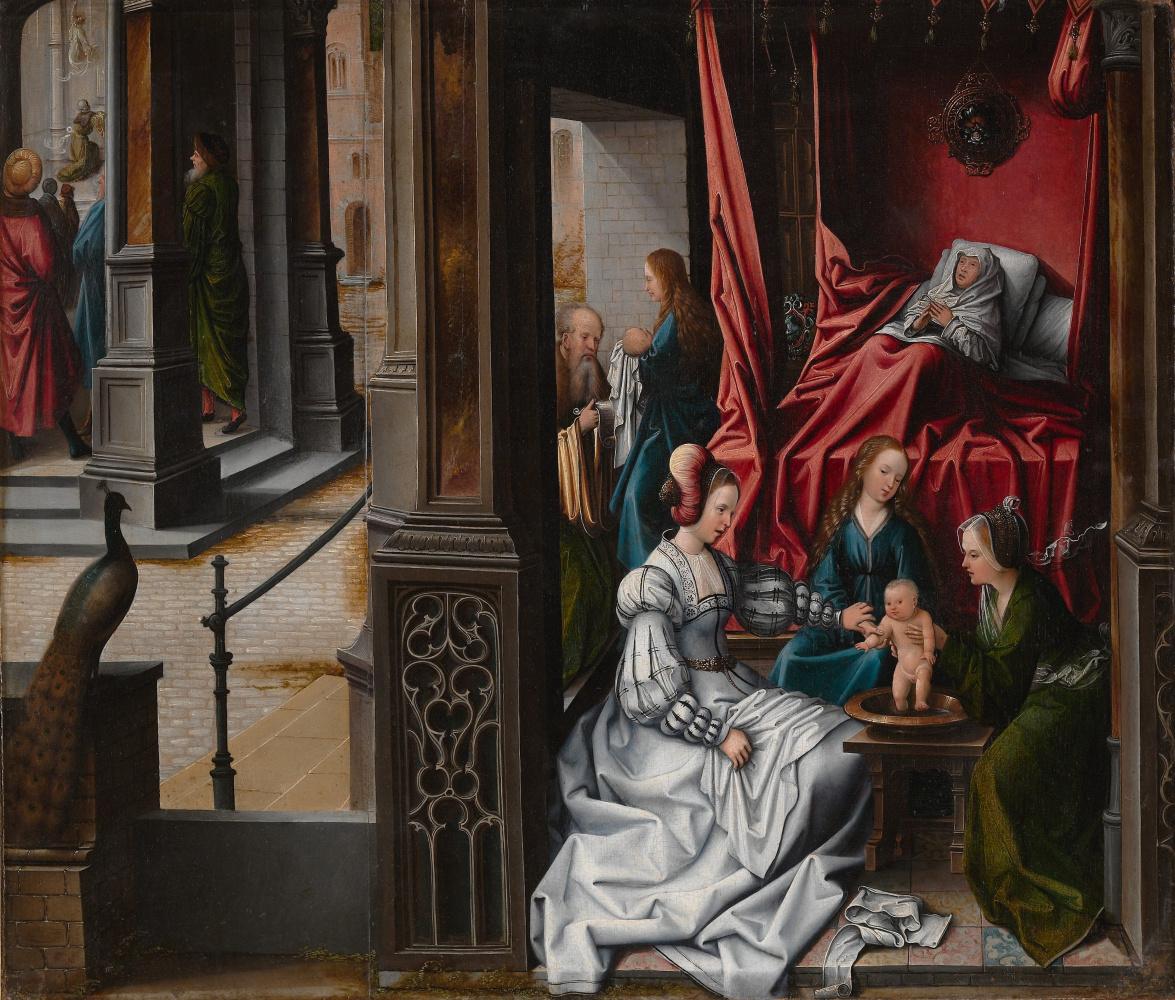 Bernart Van Orley. Birth and naming of St John the Baptist