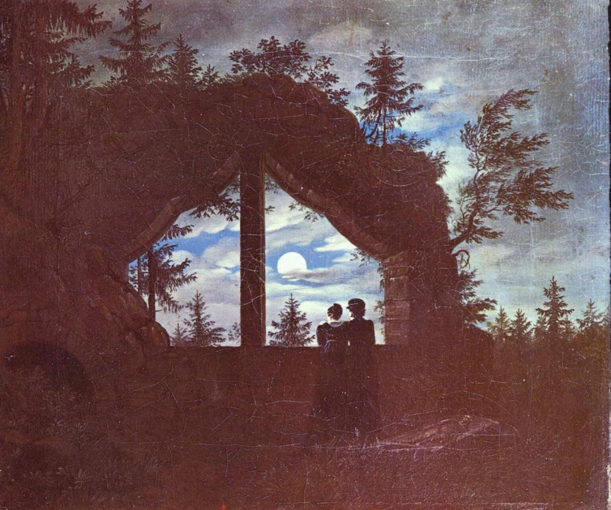 Карл Густав Карус. Окно на Ойбин при лунном свете