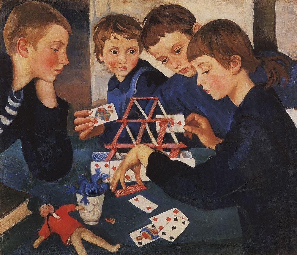 Zinaida Serebriakova. House of cards