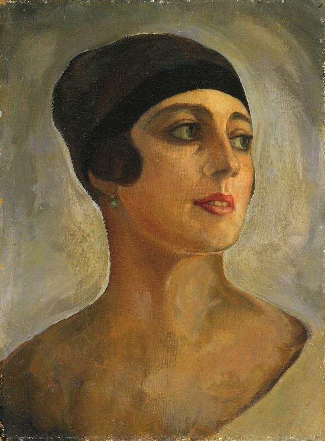 Sergey Yurevich Sudeikin. Portrait of Vera Sudeykina