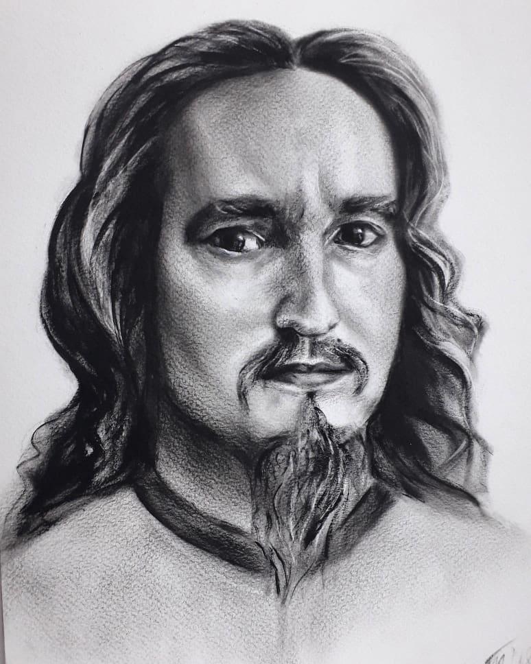 Marina Tumilovich. Portrait of a husband