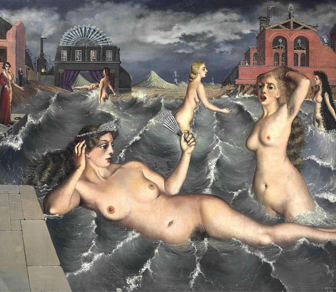Paul Delvaux Belgium 1897-1994. Water nymphs. 1938