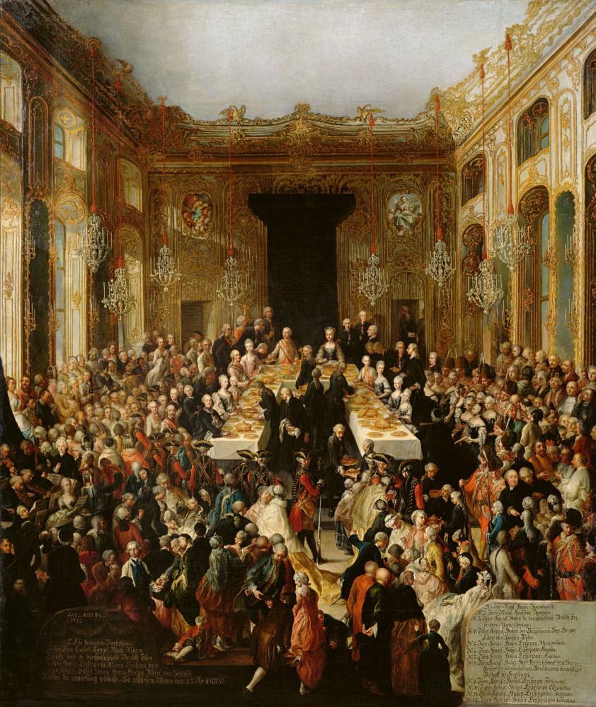 Иоганн Карл Ауэрбах. Помолвка эрцгерцогини Марии Кристины и принца Альберта Саксонского в 1766 году