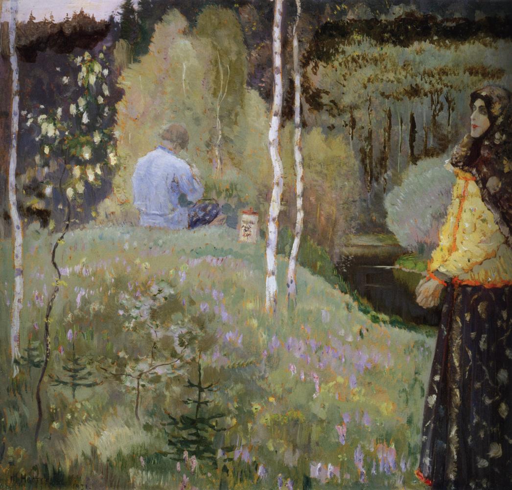 Mikhail Vasilyevich Nesterov. The pipe (Spring fairy)
