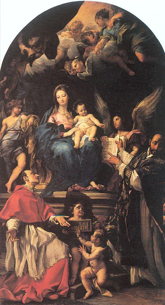 Карло Мапатта. Богородица и святые