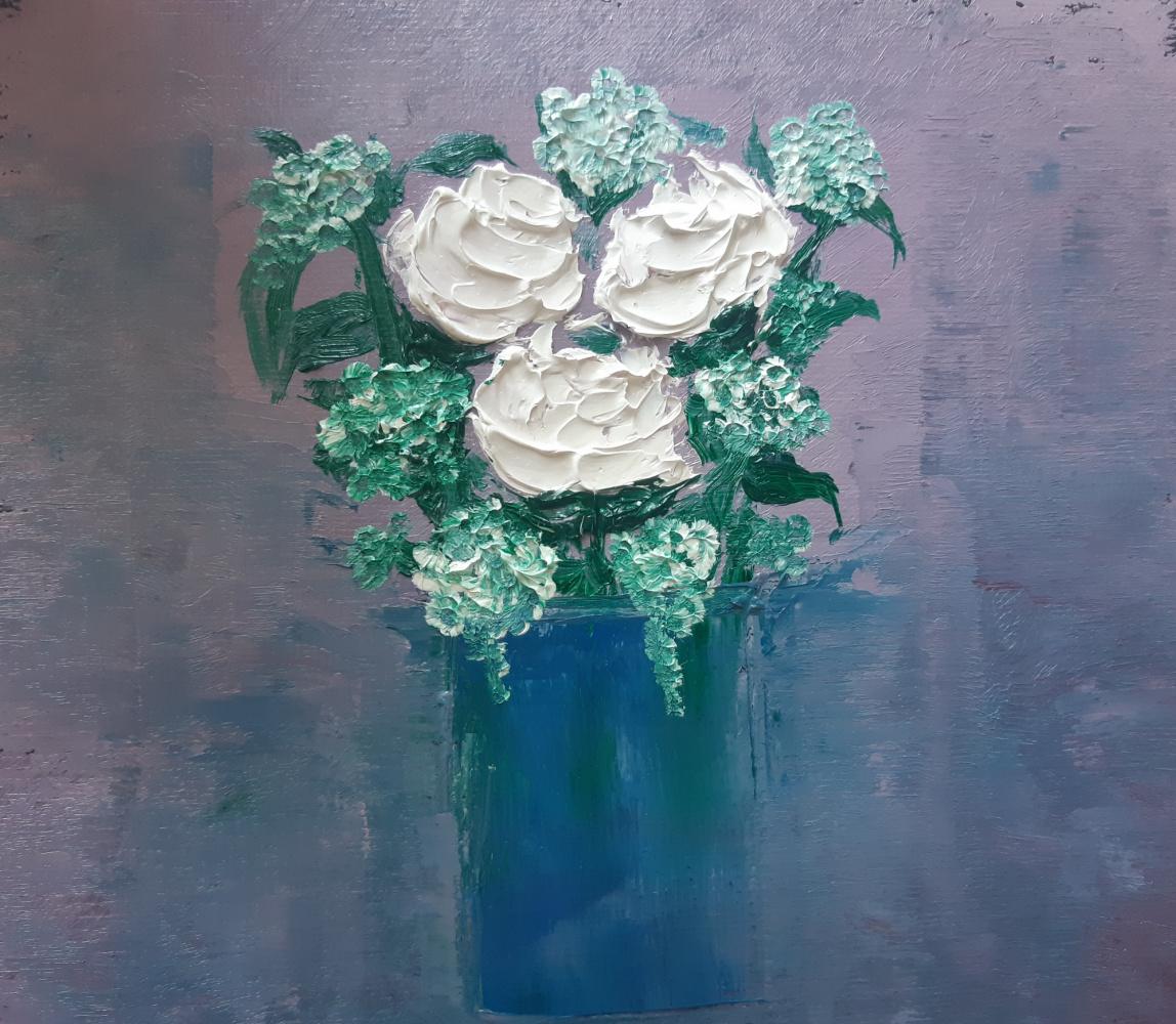 Asya Alibala gizi Hajizadeh. White flowers