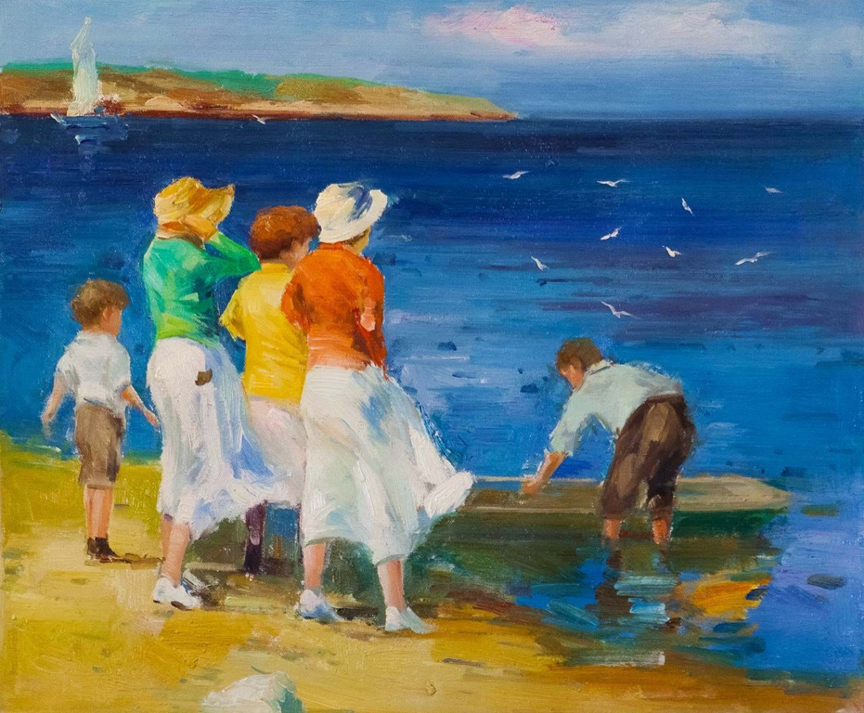 Savely Kamsky. Children and the boat