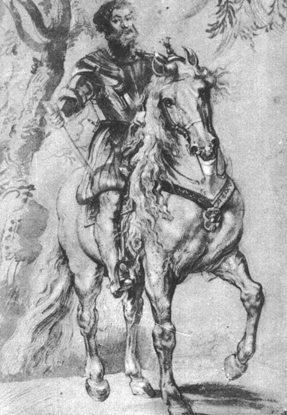 Питер Пауль Рубенс. Конный портрет герцога Лерма (этюд)
