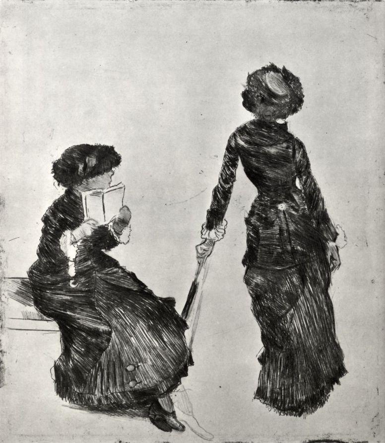 Эдгар Дега. Мари Кассат в Лувре
