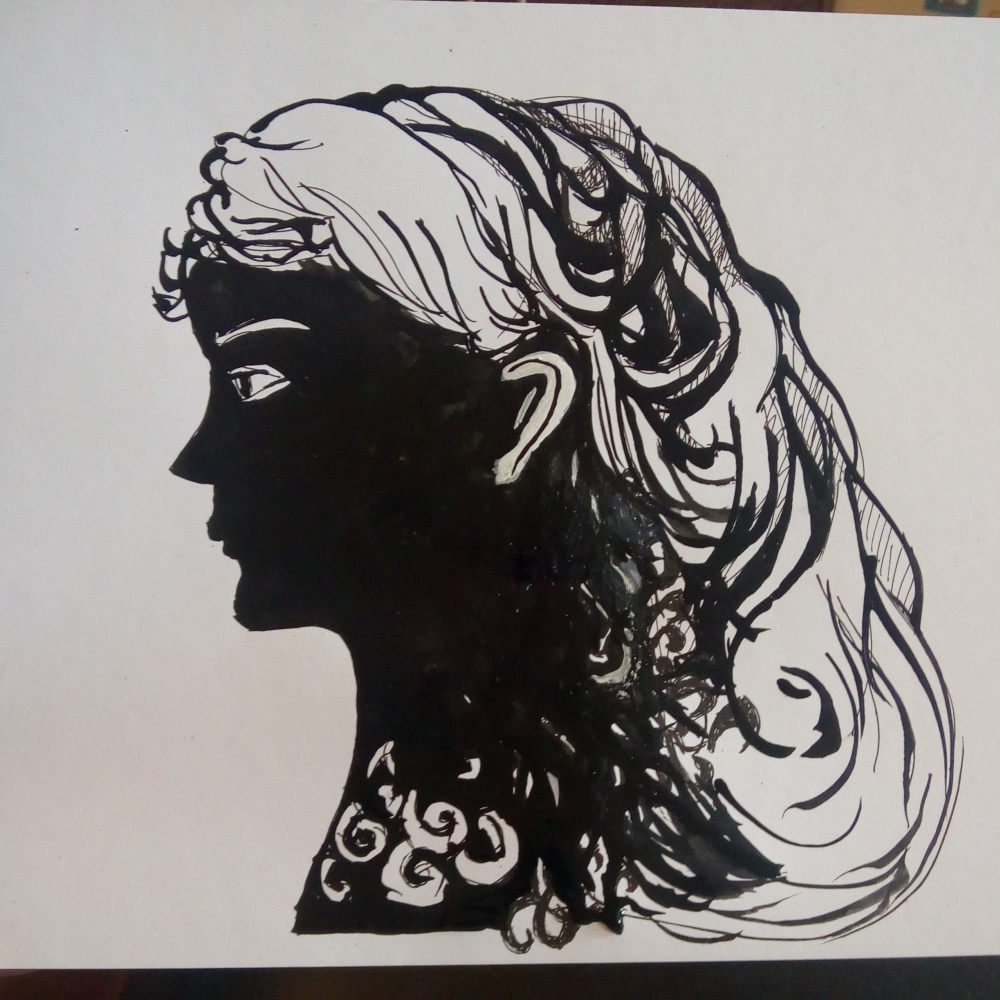 Elena Orlova. The head of a girl.