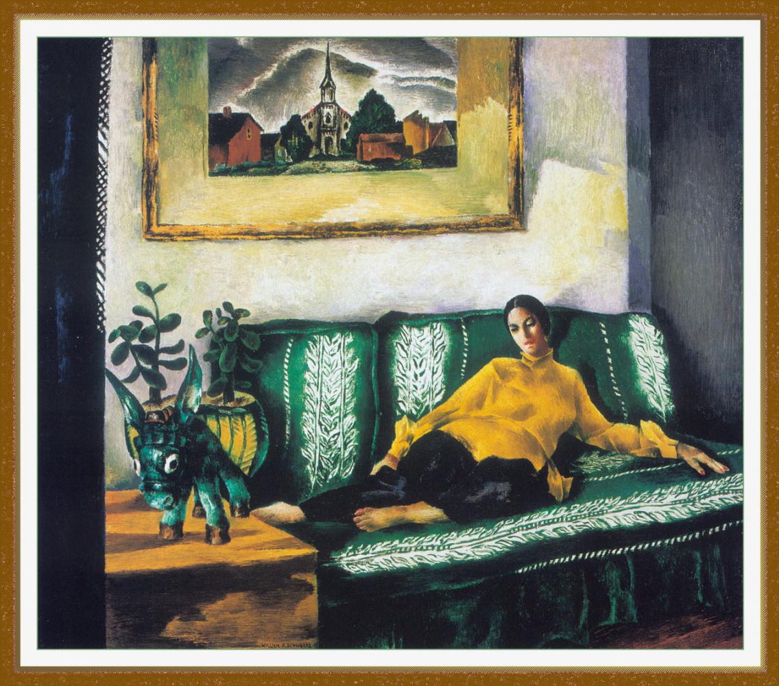 Уильям Шварц. Зеленый диван