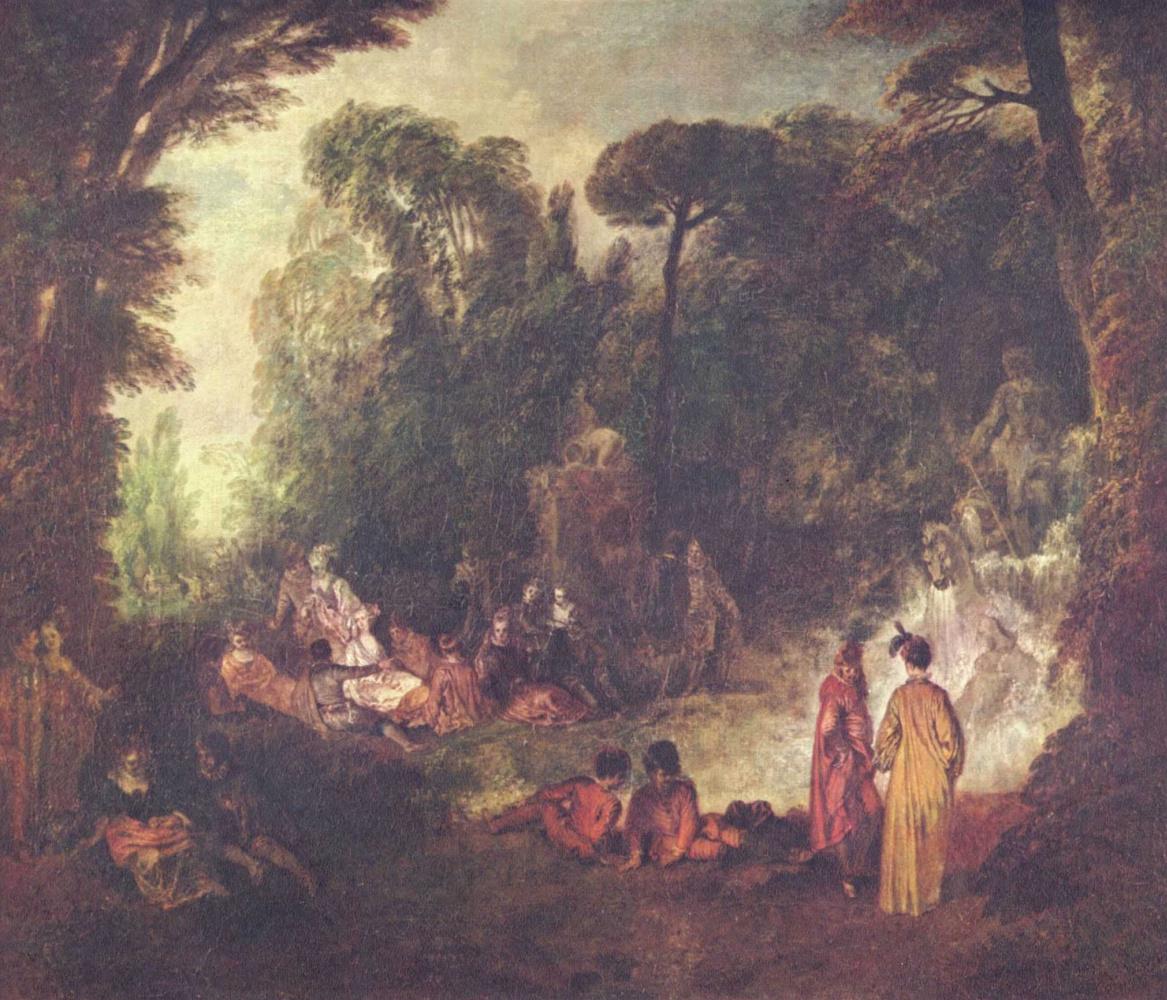 Антуан Ватто. Праздник в парке