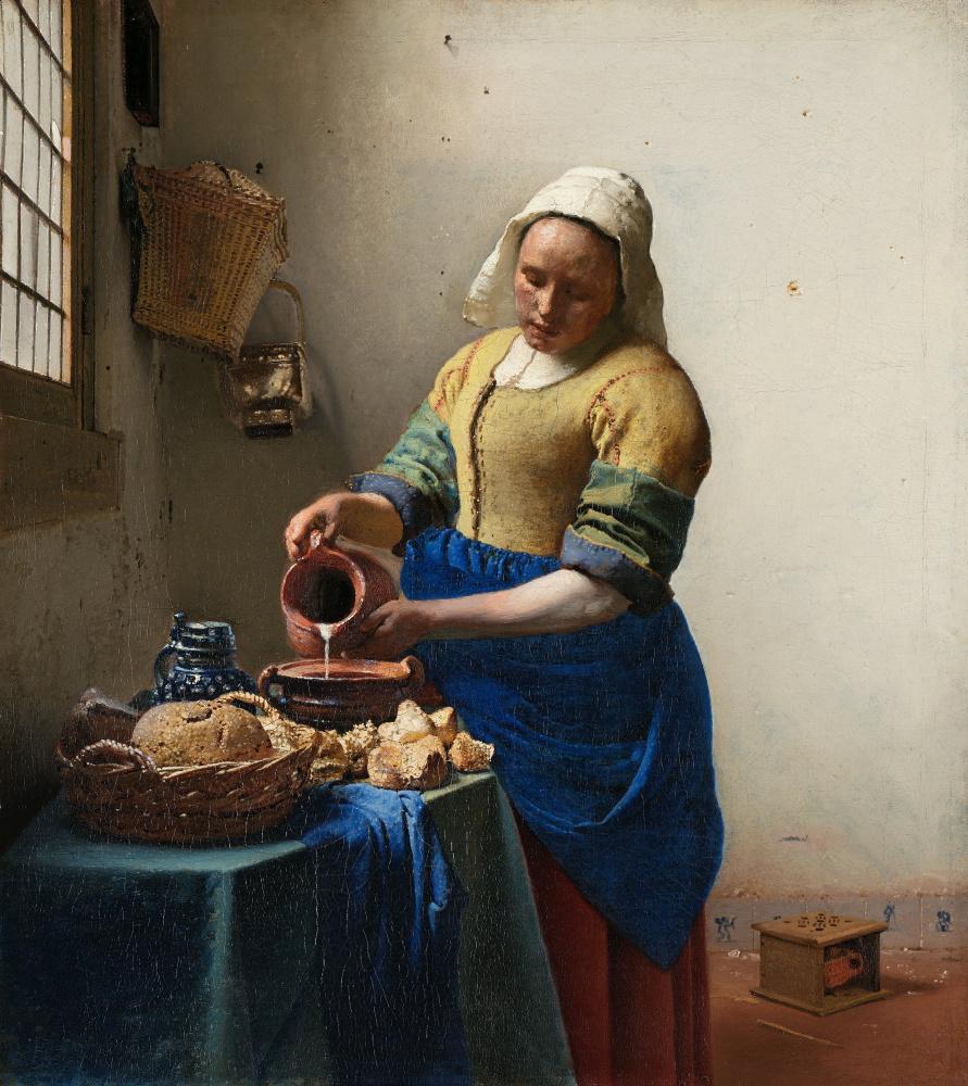 Jan Vermeer. Milkmaid