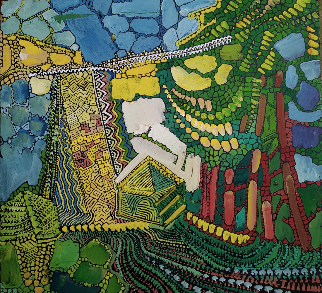 Artem Zavadsky. Landscape with a pyramid
