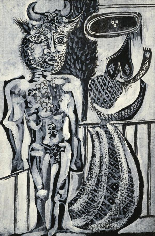 Пабло Пикассо. Минотавр и женщина